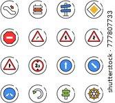 line vector icon set  ... | Shutterstock .eps vector #777807733