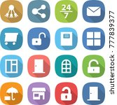 flat vector icon set   share... | Shutterstock .eps vector #777839377
