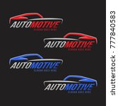 automotive line logo for car... | Shutterstock .eps vector #777840583