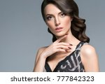 beautiful hair woman beauty... | Shutterstock . vector #777842323