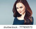 beauty woman face portrait.... | Shutterstock . vector #777850573