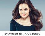 beauty woman face portrait.... | Shutterstock . vector #777850597