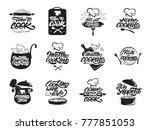 Cooking Logos Set. Healthy...