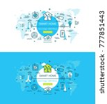 smart home and house automation ...   Shutterstock .eps vector #777851443