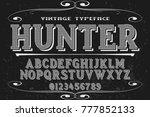 font alphabet script typeface... | Shutterstock .eps vector #777852133