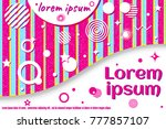 template of invitation card ... | Shutterstock .eps vector #777857107