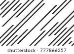 line pattern  speed lines | Shutterstock .eps vector #777866257
