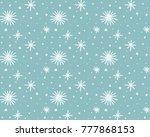 snow pattern  vector | Shutterstock .eps vector #777868153