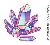 crystals druse isolated on... | Shutterstock .eps vector #777870913