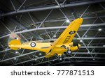 Small photo of DUXFORD, CAMBRIDGESHIRE, UK, APRIL 28 2017 - Airspeed Oxford AS.10 aircraft on display in the AirSpace hangar at Imperial War Museum, Duxford, UK