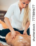 sports massage. physical... | Shutterstock . vector #777884677