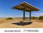 Scenic Viewpoint With Bench An...
