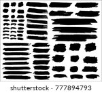 collection of hand drawn grunge ... | Shutterstock .eps vector #777894793
