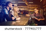 evening at the bar. romantic... | Shutterstock . vector #777901777