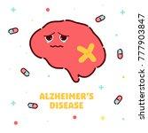 alzheimer's disease poster.... | Shutterstock .eps vector #777903847