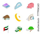 capital icons set. isometric... | Shutterstock .eps vector #777906163