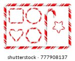 candy cane frame and more for... | Shutterstock .eps vector #777908137