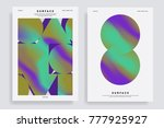 set of abstract backgrounds... | Shutterstock .eps vector #777925927