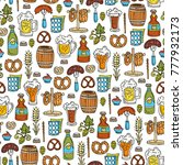 vector seamless pattern with... | Shutterstock .eps vector #777932173