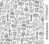 vector seamless pattern with... | Shutterstock .eps vector #777933157
