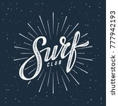 vintage hand lettering emblem... | Shutterstock .eps vector #777942193