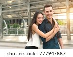 handsome man and beautiful...   Shutterstock . vector #777947887