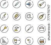 line vector icon set   pipette... | Shutterstock .eps vector #777970747