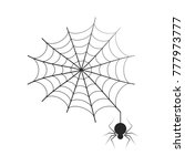 black thin neat web with small... | Shutterstock .eps vector #777973777