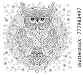 coloring book for adult and... | Shutterstock . vector #777983497