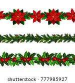 set of n seamless christmas... | Shutterstock .eps vector #777985927