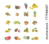 watercolor fruits. hand...   Shutterstock . vector #777988087