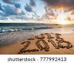 new year 2018 is coming concept....   Shutterstock . vector #777992413