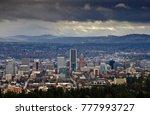 portland oregon skyline | Shutterstock . vector #777993727