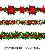 set of n seamless christmas... | Shutterstock .eps vector #777998653