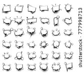 36 big set picture blank... | Shutterstock .eps vector #777998713