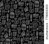 vector seamless pattern with... | Shutterstock .eps vector #778003303