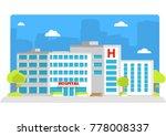 medical institution. hospital...   Shutterstock .eps vector #778008337
