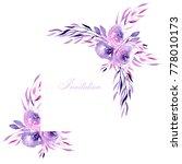 corner border  frame with... | Shutterstock . vector #778010173