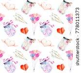 valentine's day romantic... | Shutterstock . vector #778011373