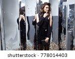 beautiful sexy woman wear... | Shutterstock . vector #778014403