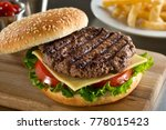 a delicious grilled angus... | Shutterstock . vector #778015423