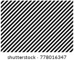 black and white diagonal lines | Shutterstock . vector #778016347