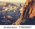 edinburgh castle and skyline...   Shutterstock . vector #778020007