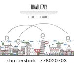 travel italy poster with... | Shutterstock .eps vector #778020703