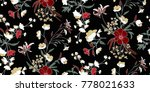 seamless floral pattern in... | Shutterstock .eps vector #778021633