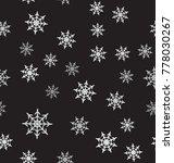 snowflake pattern. seamless... | Shutterstock .eps vector #778030267