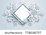 white winter snow paper cut... | Shutterstock .eps vector #778038757