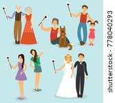 set of people photographed with ...   Shutterstock . vector #778040293