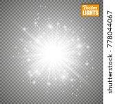 set of golden glowing lights... | Shutterstock .eps vector #778044067