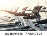 modern gym interior equipment... | Shutterstock . vector #778047523